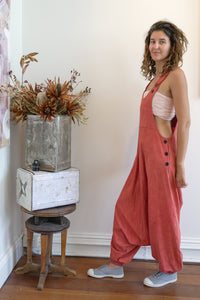 Drop Crotch Overalls-Women-The ANJELMS Project