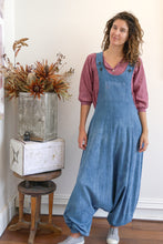 Load image into Gallery viewer, Drop Crotch Overalls-Women-S-Indigo-The ANJELMS Project