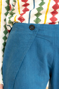 Fold Pants Indigo-Women-The ANJELMS Project