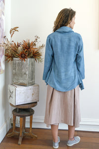 Cardigan Jacket - Indigo Silk Cotton-Women-The ANJELMS Project