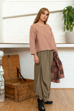 Load image into Gallery viewer, Long Sleeve Button Top Rhubarb-Women-The ANJELMS Project