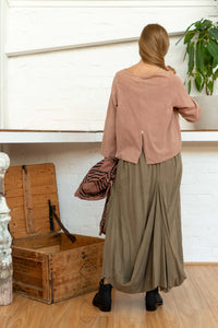 Long Sleeve Button Top Rhubarb-Women-The ANJELMS Project