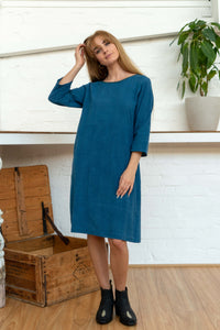 Half Sleeve Dress Indigo-Women-The ANJELMS Project