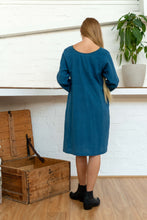 Load image into Gallery viewer, Half Sleeve Dress Indigo-Women-The ANJELMS Project