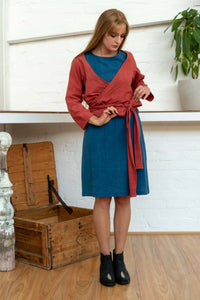 Wrap Shirt Madder-Women-The ANJELMS Project