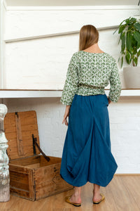 Nepalese Long Skirt Indigo-Women-The ANJELMS Project
