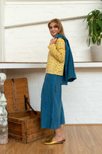Load image into Gallery viewer, Pocket Top Moroccan Print Yellow-Women-The ANJELMS Project