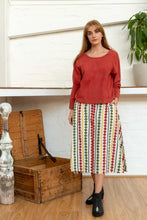 Load image into Gallery viewer, Long Sleeve Button Top Madder-Women-The ANJELMS Project