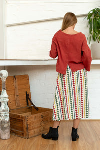 Long Sleeve Button Top Madder-Women-The ANJELMS Project