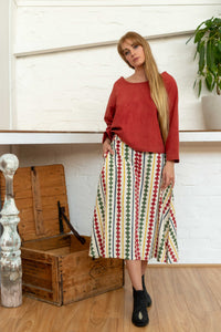 Midi Skirt Diamond Print-Women-The ANJELMS Project
