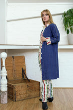 Load image into Gallery viewer, Reversible Coat - Indigo/Diamond Print-Women-The ANJELMS Project