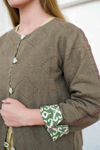 Load image into Gallery viewer, Reversible Jacket - Pomegranate Iron/Moroccan Print Olive-Women-The ANJELMS Project