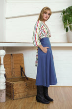 Load image into Gallery viewer, Midi Skirt Indigo-Women-The ANJELMS Project