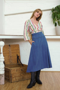 Midi Skirt Indigo-Women-The ANJELMS Project