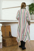 Load image into Gallery viewer, Buttoned Tie Long Dress Diamond Print-Women-The ANJELMS Project