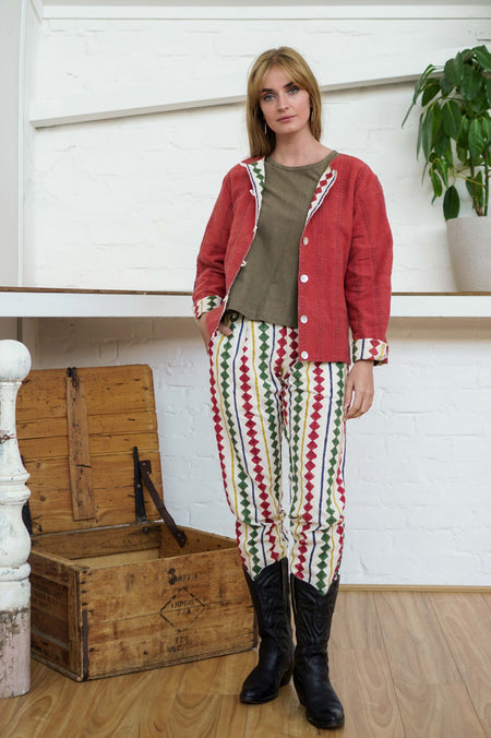 Reversible Jacket - Madder/Diamond Print-Women-The ANJELMS Project