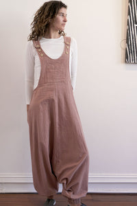Drop Crotch Overalls-Women-S-Himalayan Rhubarb-The ANJELMS Project
