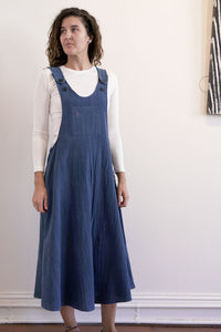 Pinafore-Women-M-Indigo-The ANJELMS Project