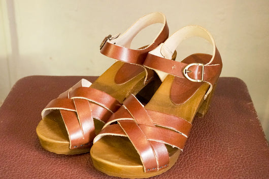 Sandals - Vege Cognac