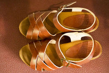 Load image into Gallery viewer, Sandals - Vege Cognac-Accessories-The ANJELMS Project