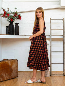 Apron Dress - Pushkar Rose-Women-The ANJELMS Project
