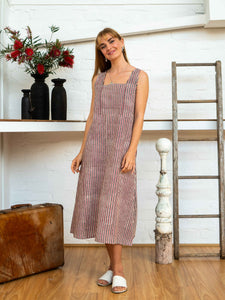 Apron Dress - Red Pinstripe-Women-The ANJELMS Project