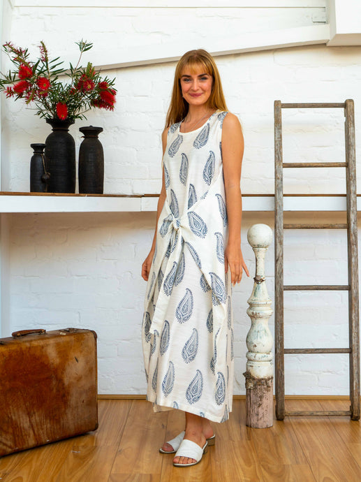Wrap Dress - Kashmiri Leaf-Women-The ANJELMS Project