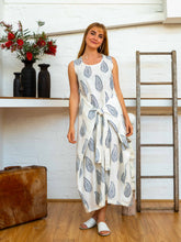 Load image into Gallery viewer, Wrap Dress - Kashmiri Leaf-Women-The ANJELMS Project