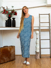 Load image into Gallery viewer, Wrap Dress - Indigo Stripes-Women-The ANJELMS Project