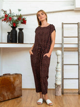 Load image into Gallery viewer, Drawstring Jumpsuit - Jaipur Floral-Women-The ANJELMS Project
