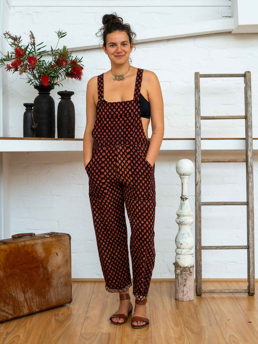 Work Overalls - Pushkar Rose-Women-The ANJELMS Project