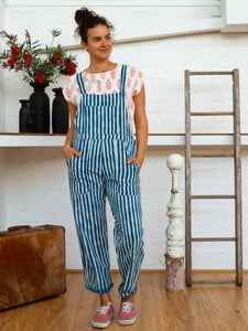 Work Overalls - Indigo Stripes-Women-The ANJELMS Project