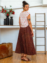 Load image into Gallery viewer, Wrap Skirt Long - Pushkar Rose-Women-The ANJELMS Project