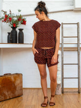 Load image into Gallery viewer, Tab Drawstring Shorts - Pushkar Rose-Women-The ANJELMS Project