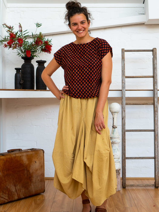 Cap Sleeve Top - Pushkar Rose-Women-The ANJELMS Project