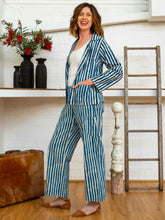 Load image into Gallery viewer, Jacket - Indigo Stripes-Women-The ANJELMS Project