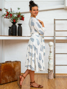 Wrap Skirt Short - Kashmiri Leaf-Women-The ANJELMS Project