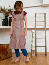 Load image into Gallery viewer, Apron Dress - Red Pinstripe-Women-The ANJELMS Project