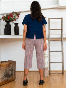 Short Sleeve Top - Indigo-Women-The ANJELMS Project