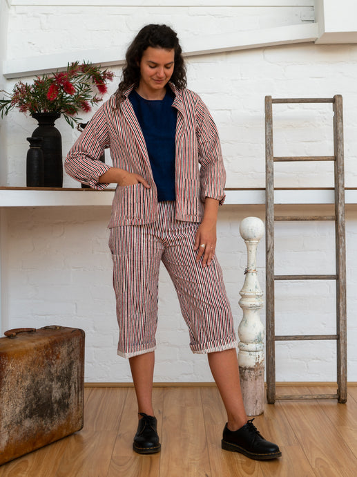 Jacket - Red Pinstripe-Women-The ANJELMS Project