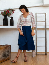 Load image into Gallery viewer, Wrap Skirt Short - Indigo-Women-The ANJELMS Project