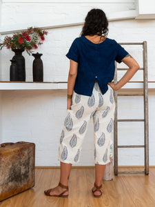 ¾ Pocket Pants - Kashmiri Leaf-Women-The ANJELMS Project