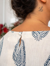 Load image into Gallery viewer, Cap Sleeve Dress - Kashmiri Leaf-Women-The ANJELMS Project