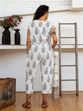 Load image into Gallery viewer, Drawstring Jumpsuit - Kashmiri Leaf-Women-The ANJELMS Project