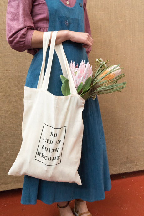 Handloom Tote Bag - Do And In Doing Become-Accessories-The ANJELMS Project
