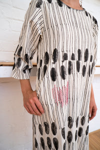 Half Sleeve Dress | Humanity To Community Print-Women-The ANJELMS Project