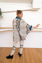 Load image into Gallery viewer, Reversible Cocoon Jacket | Humanity To Community Print-Women-The ANJELMS Project