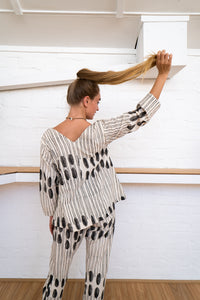 3/4 Sleeve Top | Humanity To Community Print-Women-The ANJELMS Project