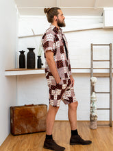 Load image into Gallery viewer, Men Shorts - Black/White Print Patchwork-Men-The ANJELMS Project