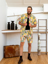 Load image into Gallery viewer, Men Shorts - Diamond Print Patchwork-Men-The ANJELMS Project